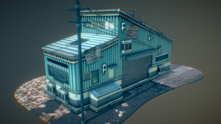 Modular_small_house_Sample 3D Model