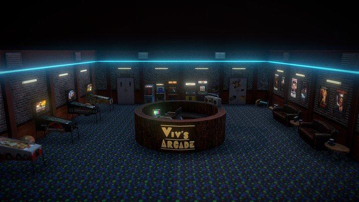 Retro Gaming Arcade 3D Model