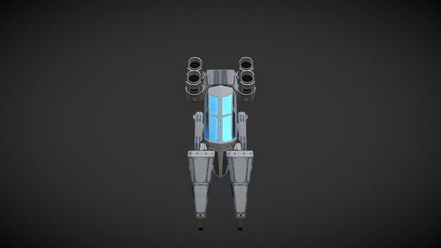 Digger Mech - Battle Frontier 3D Model