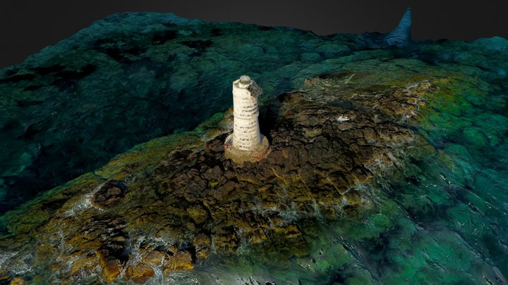 Lighthouse Mangiabarche | Sardinia, Italy 3D Model