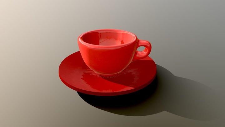 Tazzina Rossa Gio 3D Model