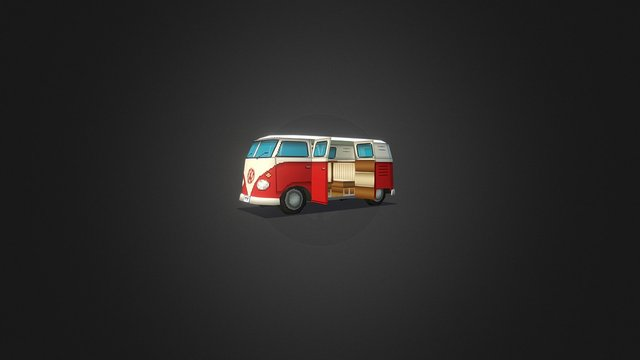 Vw Kombi 6 doors 3D Model