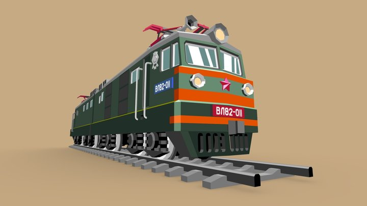 VL 82 Electric Locomotive 3D Model