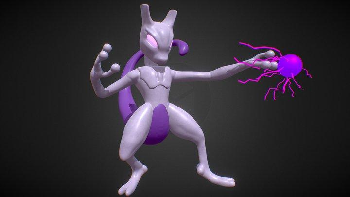 Mewtwo fan art 3D Model