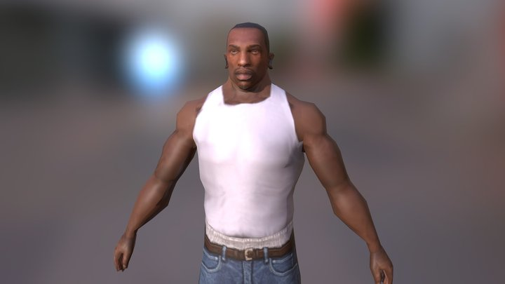 CJ from Gta Sanandreas 3D Model
