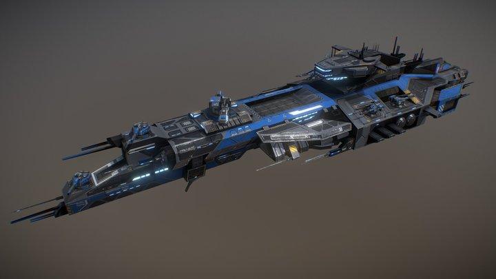Rhodes Battlecruiser 3D Model