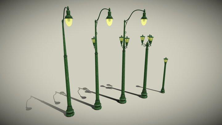 lightpoles_Stylized 3D Model