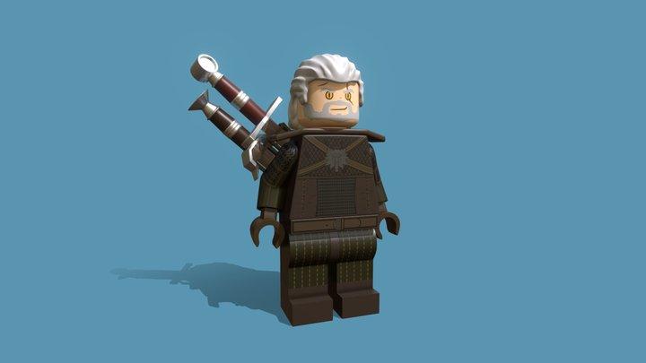 Lego Geralt of Rivia 3D Model