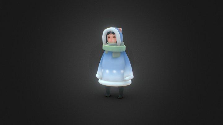 WinterCoat 3D Model