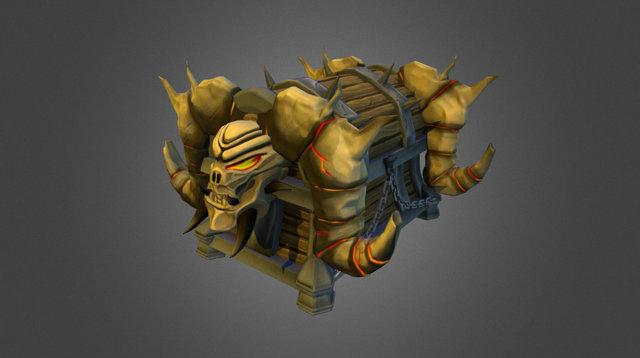 Demon Chest 3D Model