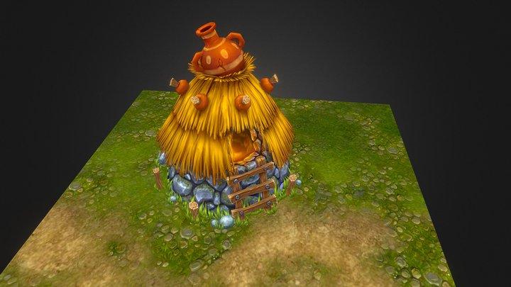 Small Fantasy Hut 3D Model