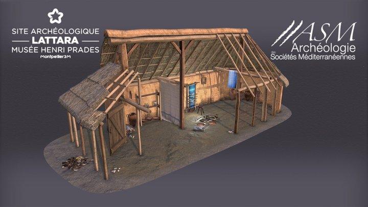 Maison étrusque (500 avant J-C) 3D Model