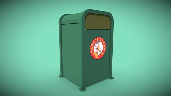 Toontown Trash Can