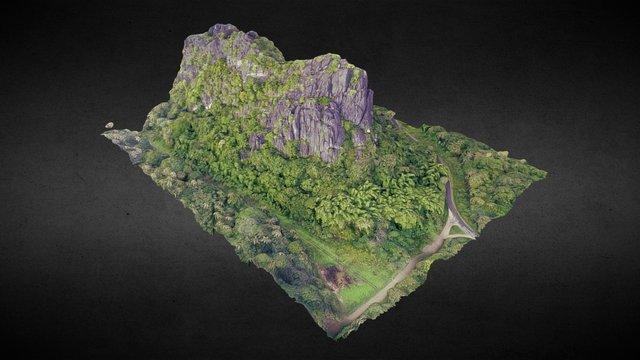 Karstic cliffs in Hienghene - New Caledonia 3D Model