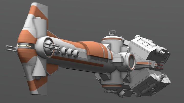 Thranta-Class Corvette 3D Model