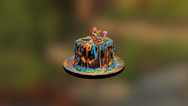 Splatoon Birthday Cake 3D Model