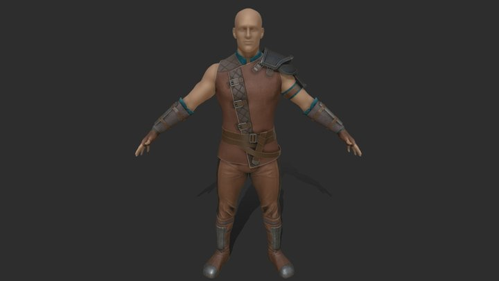 Male Leather Armor 3D Model