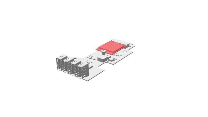FC-USB populated 3D Model