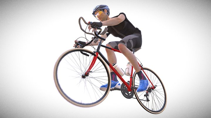 U.CR+ Wind Resistance Seamless Bicycle Clothing 3D Model