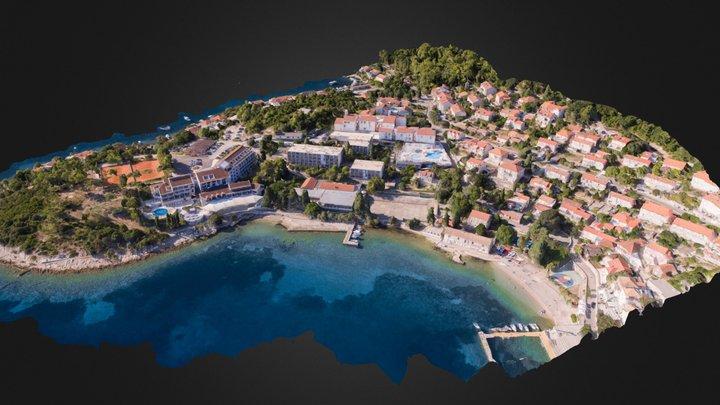 Hotel Park, Liburna i Marko Polo - Korčula 3D Model