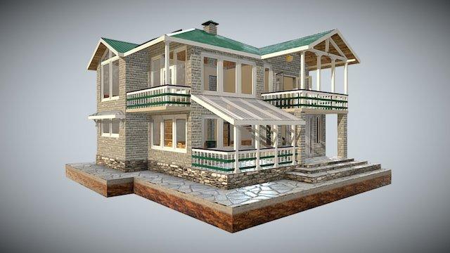 White Silver Green Residence 3D Model