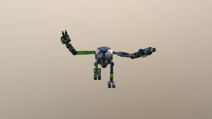 DAE Bot Posed 3D Model