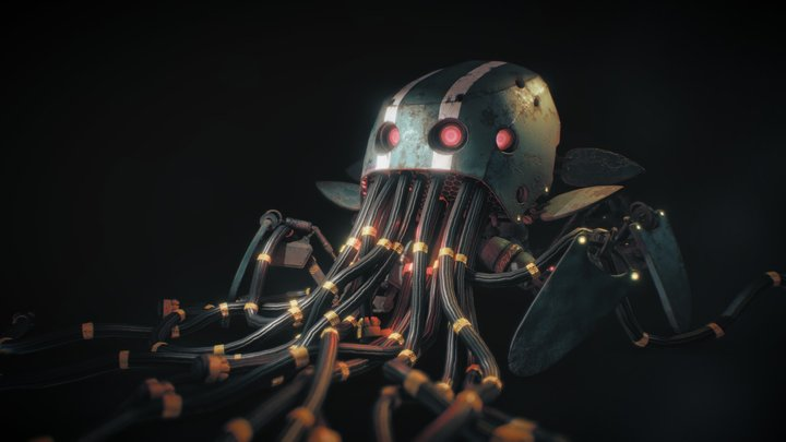 Stalenhag Environment Project: Spider Mech 3D Model