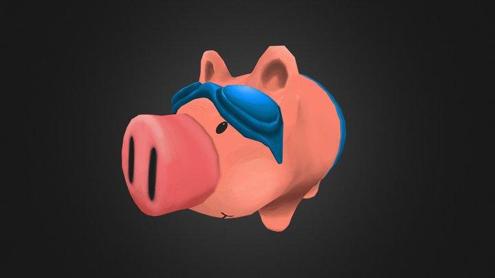 Swimming Piggy Bank 3D Model