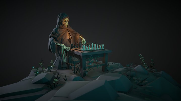 A Game with Death 3D Model