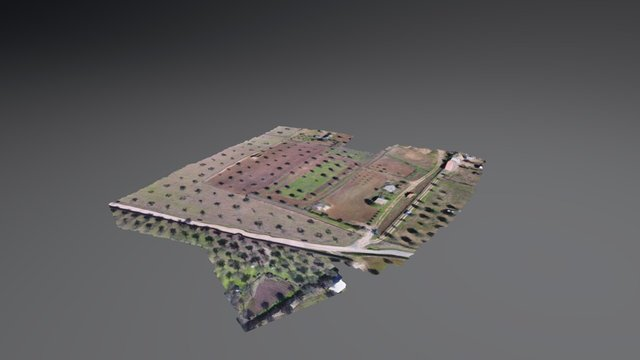 Digital model of terrain (Alentejo) 3D Model