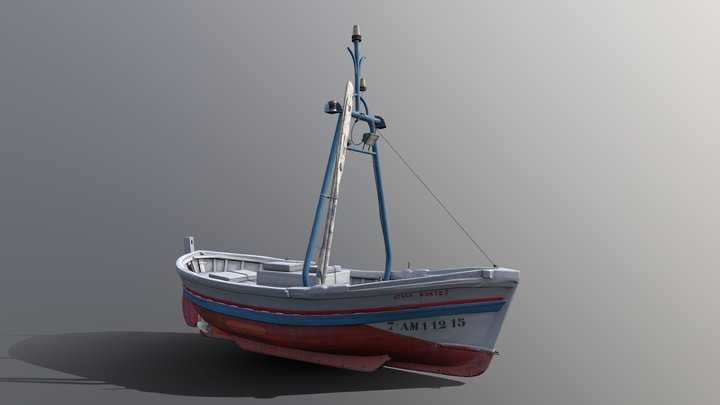 Fishing boat - scan 3D Model