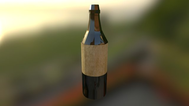 Botella 3 3D Model