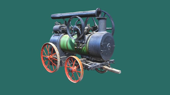 Traction engine, photogrammetry 3D Model