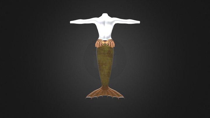 mermaid tail 3D Model