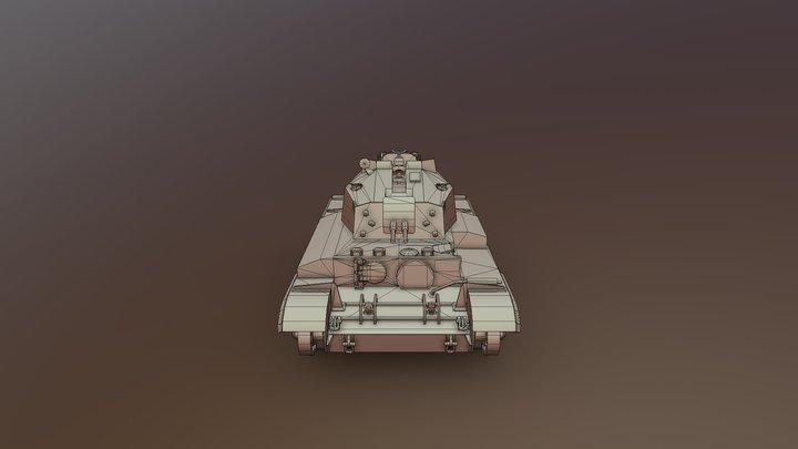 A27M Centaur AA Mk. II Cruiser Tank 3D Model