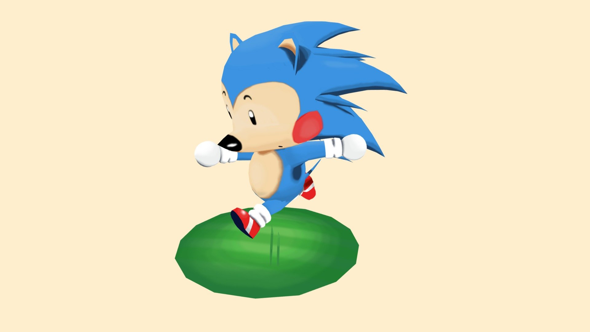 Sonic The Hedgehog Animal Crossing Style 3d Model By Zacharia Heatphoenix Heatphoenix Ec64465 Sketchfab