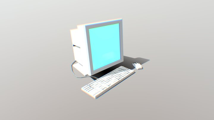 OLD PC from early 2000's 3D Model