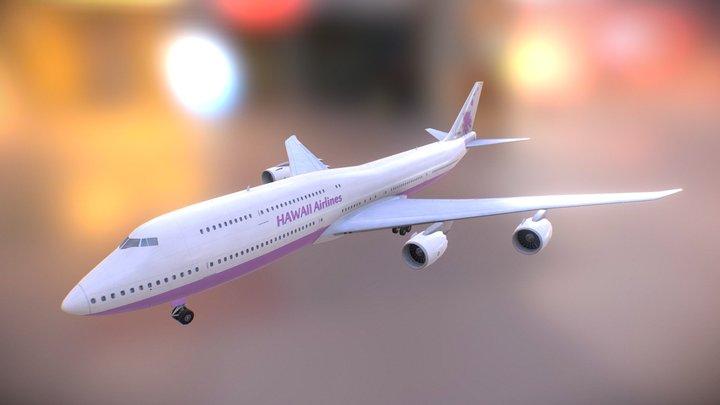 B747-800 JumboJet with landing gear 3D Model