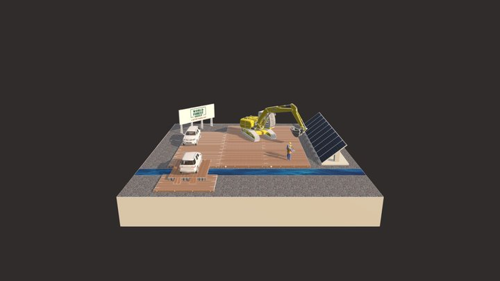 Mats and Solar Panels 3D Model
