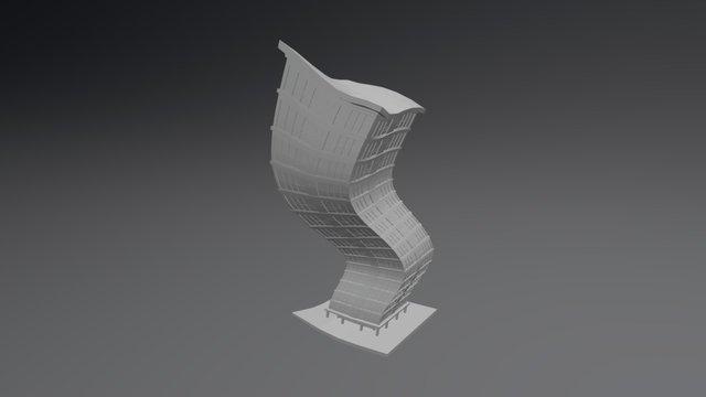 Toon Building 3D Model