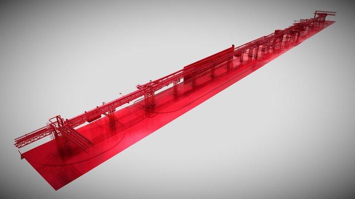 מודל 20-5-2021 מכתשים רמת חובב גשר צנרת מזרחי 3D Model