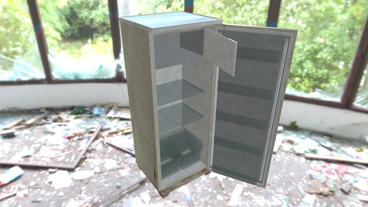 Old refrigerator 3D Model