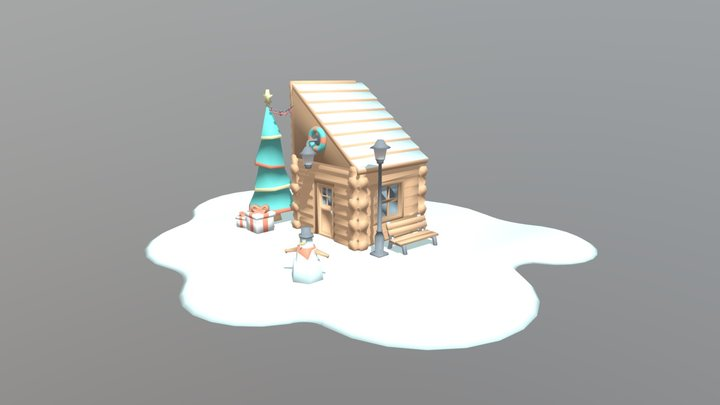 X House 3D Model