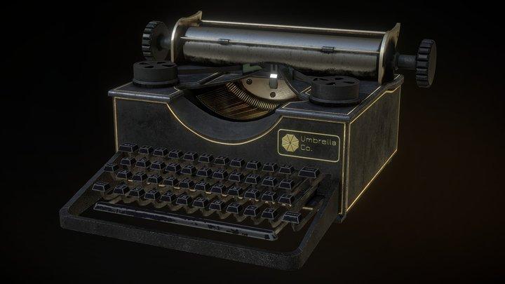 Umbrella Typewriter 3D Model