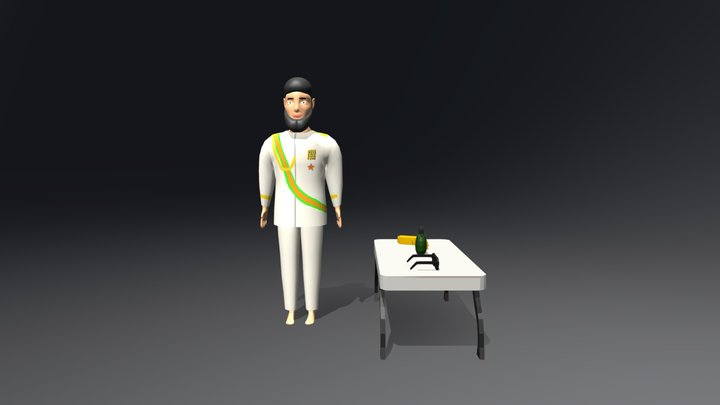 Admiral General Aladeen - The Dictator 3D Model