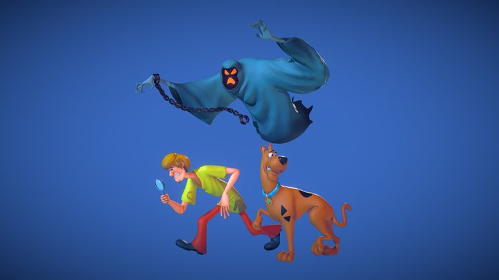 Scooby Doo and Shaggy on a Ghost Hunt 3D Model