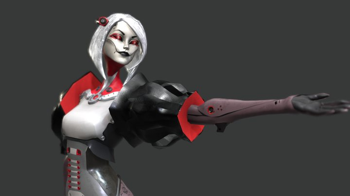 Cyberlady 3D Model