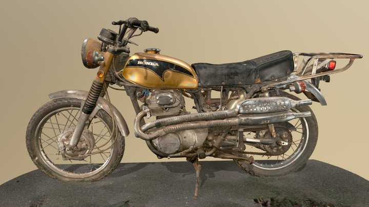 1971 Honda CL350 Motorcycle - Artec Leo 3D Scan 3D Model