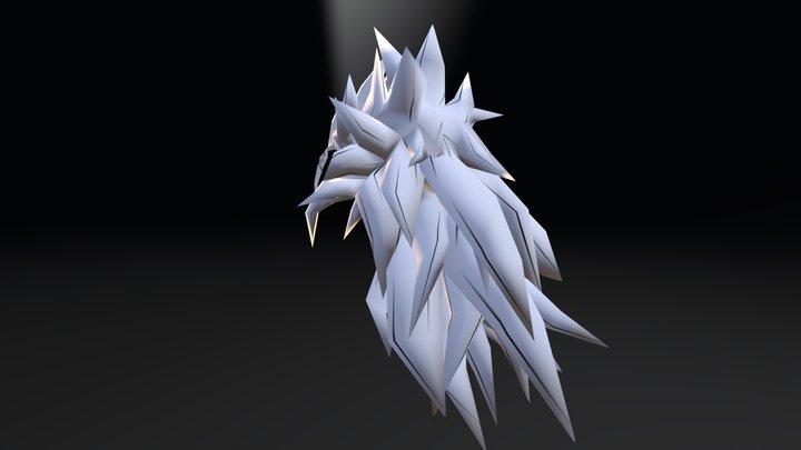SSJ5 Hair 3D Model