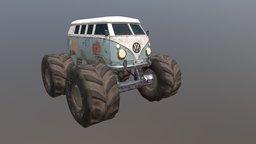 Caravan Monster Truck 3D Model